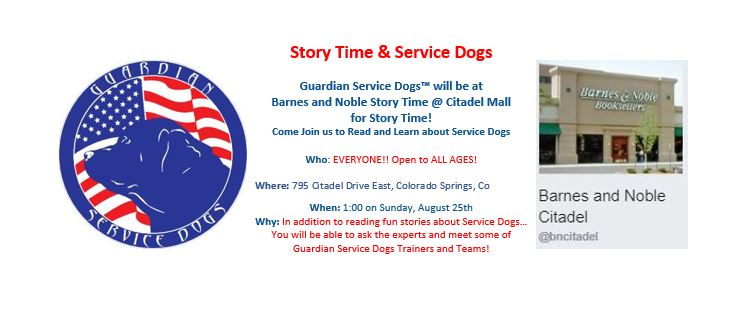 Story Time & Service Dogs @ Barnes and Noble Booksellers @ Barnes and Noble Booksellers #2608
